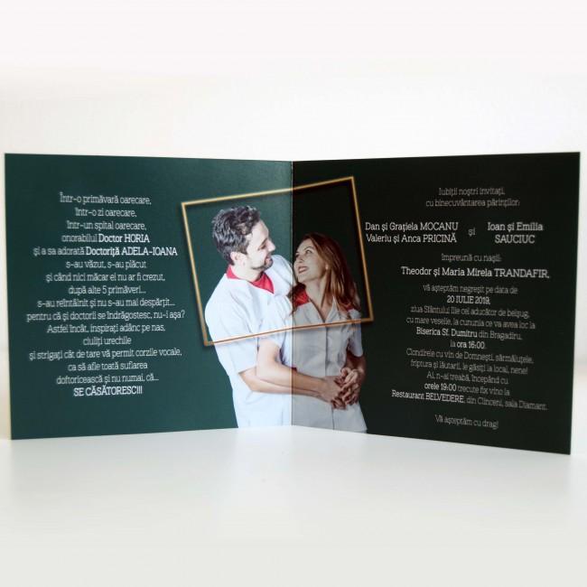 Invitatie Nunta Tip Poza Bin207 Invitatii Nunta Botez Albume Foto