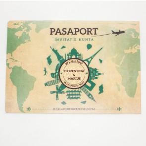 Invitatie nunta BIN150 - pasaport