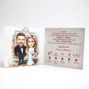 Invitatie nunta BIN166