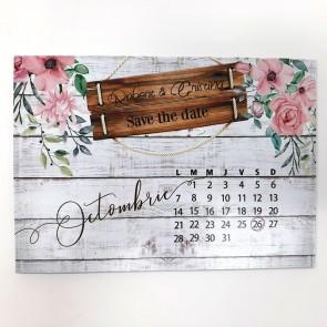 Invitatie nunta tip calendar BIN225