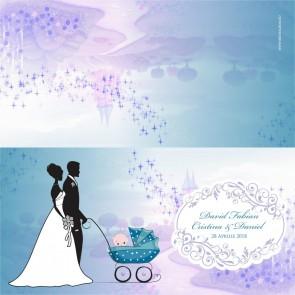 Invitatie nunta si botez BIN116