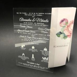 Invitatie nunta plexiglas A6 BINP101