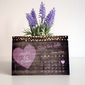Invitatie nunta tip calendar BIN196