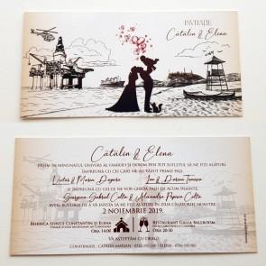 Invitatie nunta tip calendar BIN227