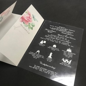 Invitatie nunta plastic 13/18 BINP103