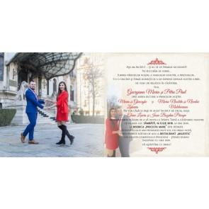 Invitatie nunta tip poza BIN120