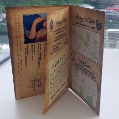 Invitatie nunta tip pasaport BIN223