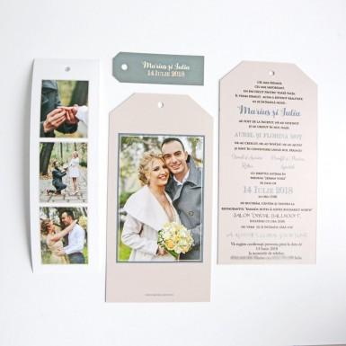 Invitatie nunta tip poza BIN103